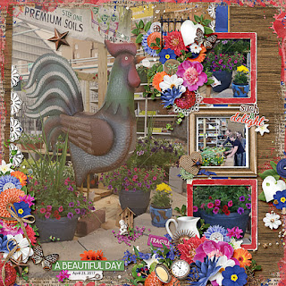 Creative Team, Annemarie, for Heartstrings Scrap Art – May Anthology – My Secret Garden with Aimee Harrison Designs