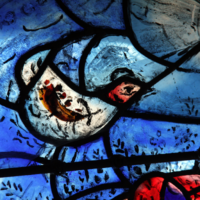 Chagall windows of the chapel.