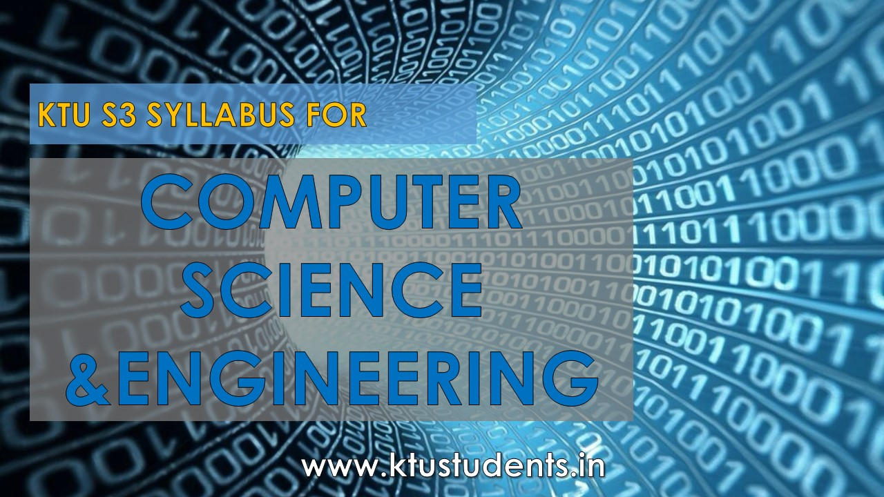 Syllabus S3:Computer Science and Engineering | KTU Students