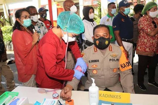 Polresta Jayapura Partisipasi Pencanganan Perdana Vaksin Covid-19