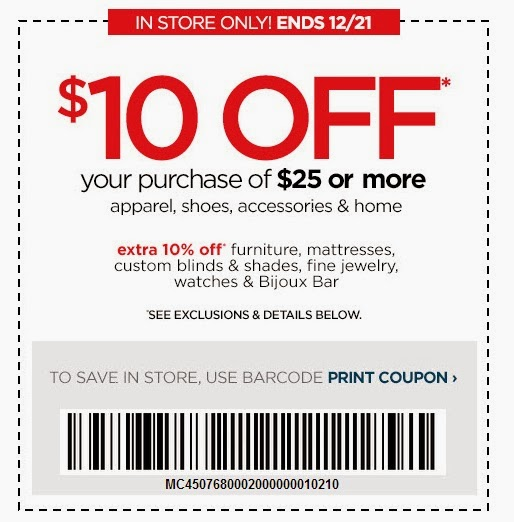 jcpenney promo coupons