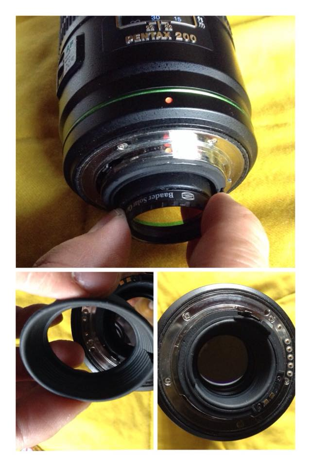 "DA*200 用後置光害濾鏡。cut a hole in a 1.25"" eyepiece  cap"