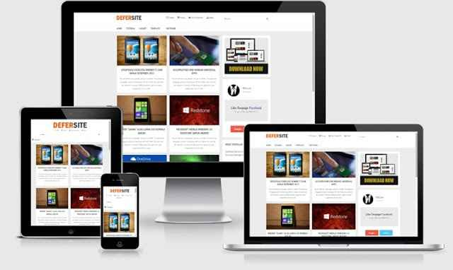 Defersite Responsive Blogger Template