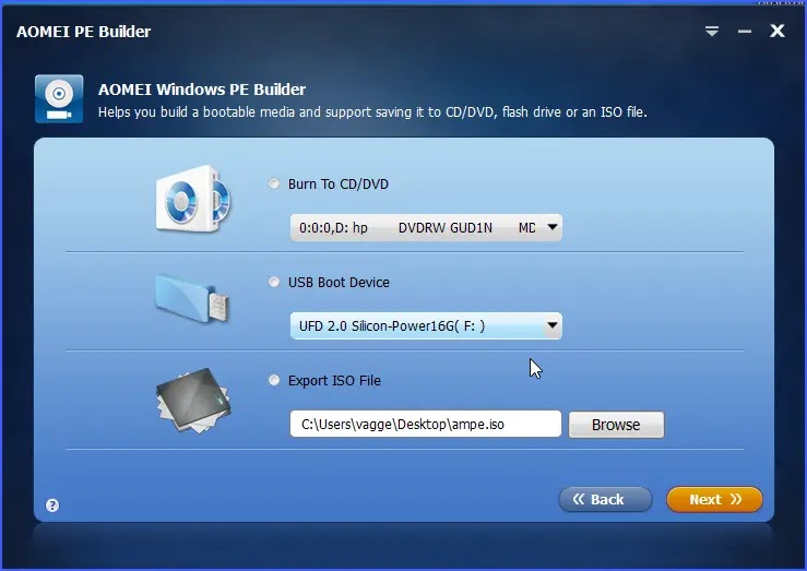 AOMEI PE Builder : Δωρεάν λογισμικό για τη δημιουργία  Bootable Windows PE σε USB και CD / DVD και ISO