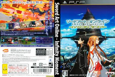 Jogo Sword Art Online - Infinity Moment PSP DVD Capa