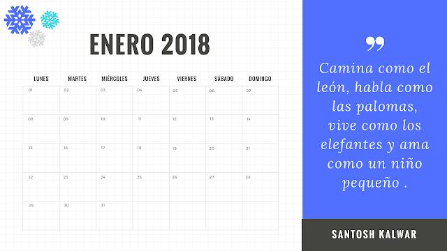Calendario emocional 2018