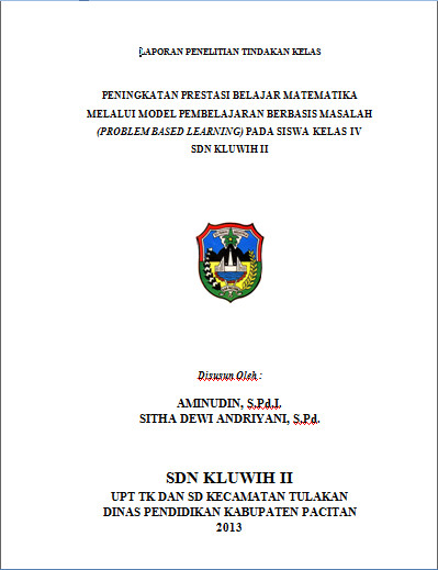 Download Contoh Laporan PTK Matematika Dan Bahasa Indonesia Format Microsoft Word