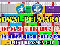 Jadwal Pelajaran Tematik SD Kurikulum 2013 Tahun Pelajaran 2019/ 2020