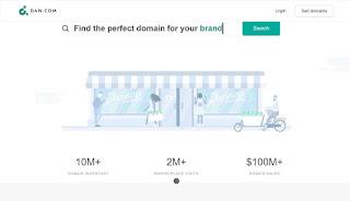 dan.com domain marketplace to sell domains