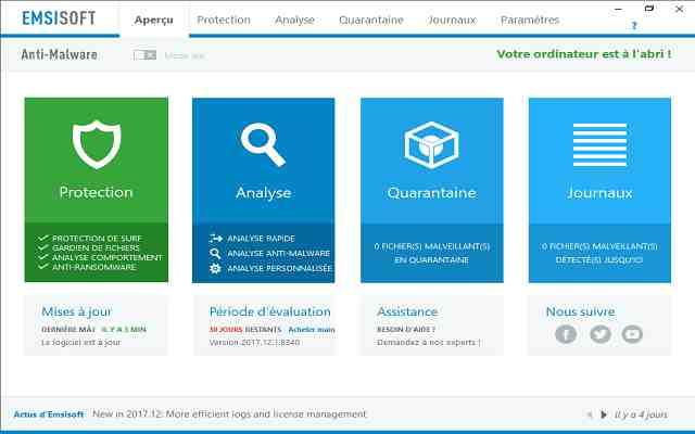 تحميل برنامج الحماية من الفيروسات والبرمجيات الضارة وبرمجيات التجسس Emsisoft Anti-Malware