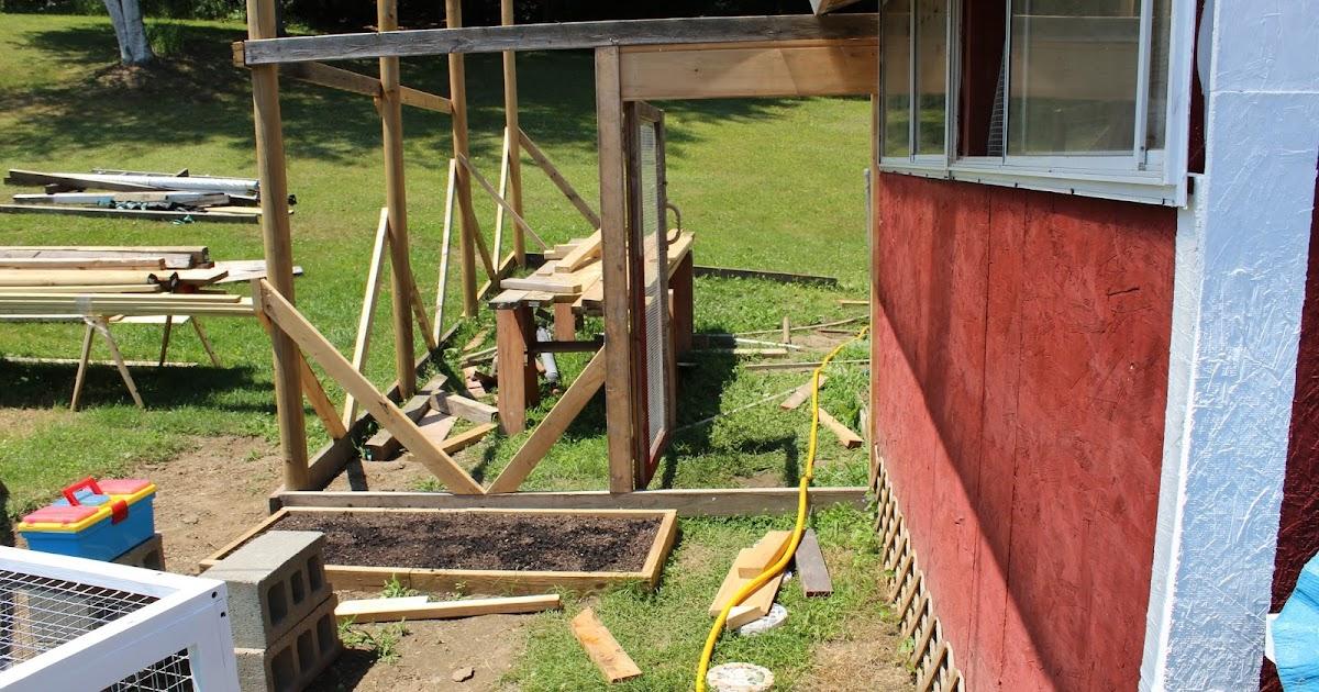 Chicken Coop Run Building Progress