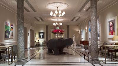 Decoración exclusivo de un hotel con obras de arte contemporáneas Gaudifond