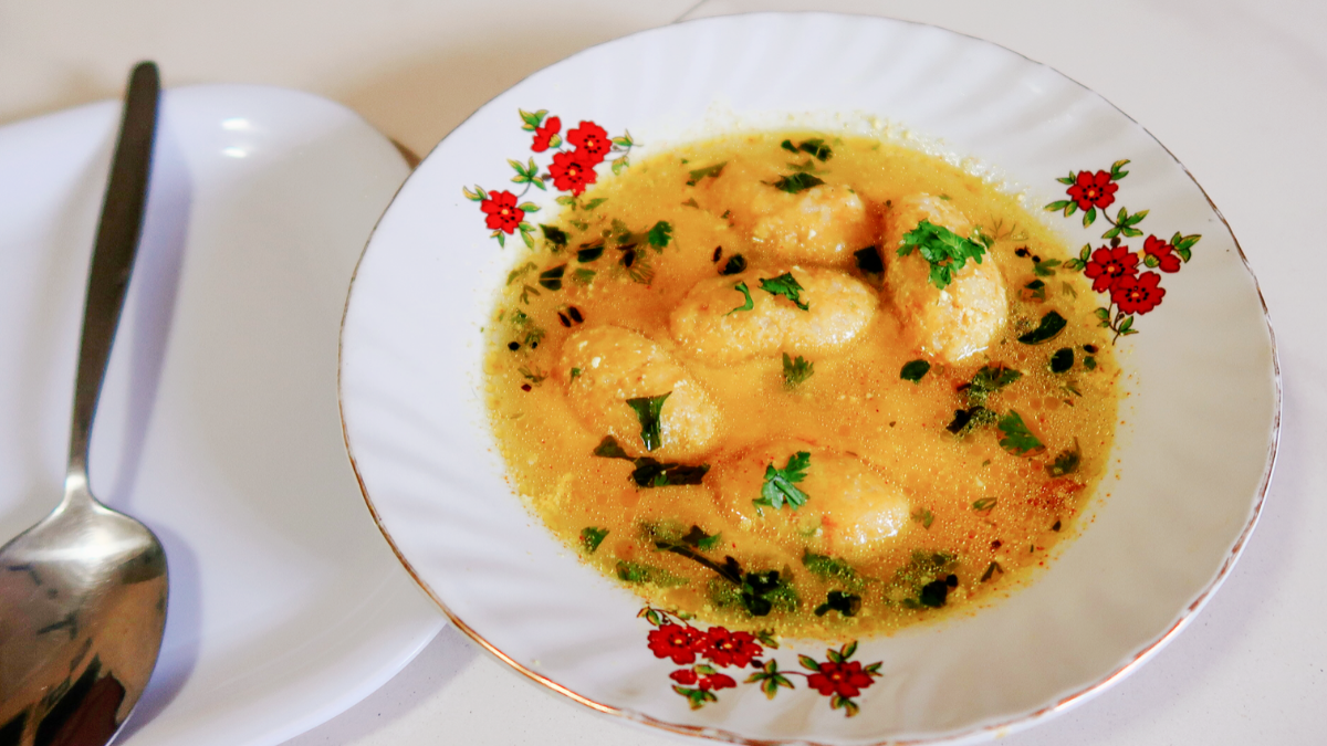 The Kadhi Muthiya Recipe Using Cooked Rice