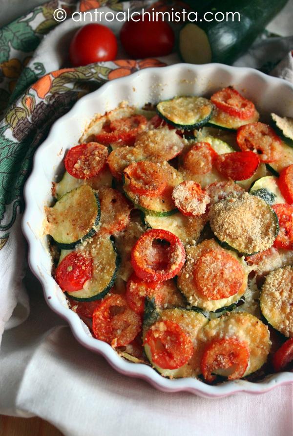 Tian di Zucchine, Pomodori e Cipolle