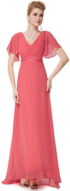 Cheap Coral Chiffon Bridesmaid Dresses