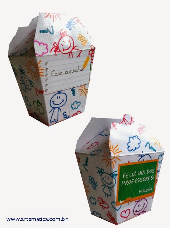 427d92af4 O tamanho da caixinha em papel A4 fica com 7 cm de altura (fechada), as  laterais maiores ficam com 7,3 cm em cima e 5,5 cm embaixo, e as laterais  menores ...