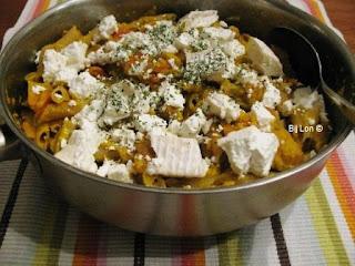 Pasta Pompoen en Geitenkaas