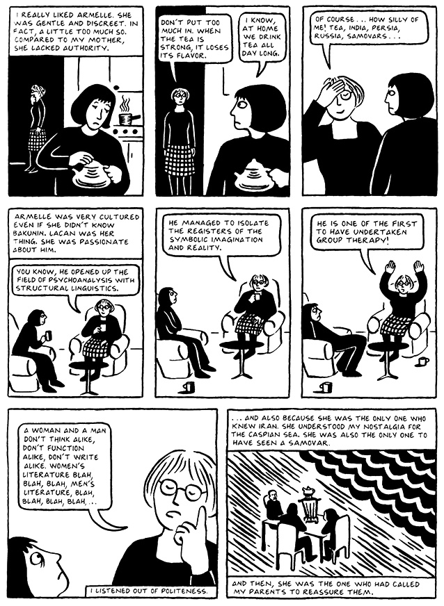 Read Chapter 4 - The Pill, page 27, from Marjane Satrapi's Persepolis 2 - The Story of a Return