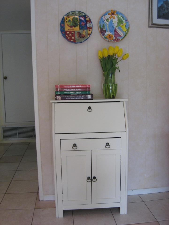 French Grey Cottage Darling Shabby Chic Secretary Desk