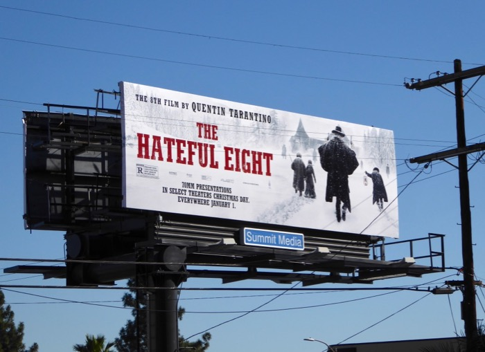 Hateful Eight movie billboard