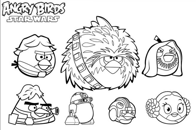 coloring pages angry birds star wars - ateli coloriz abril 2016