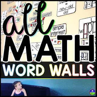 All Math Word Walls bundle