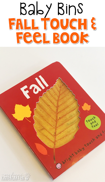 This Fall Touch & Feel book is our favorite baby board book for fall. These Baby Bin plans are perfect for learning with little ones between 12-24 months old.