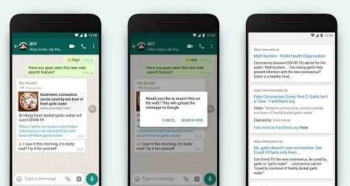 WhatsApp 'Search the Web' Feature Gradually Rolling out