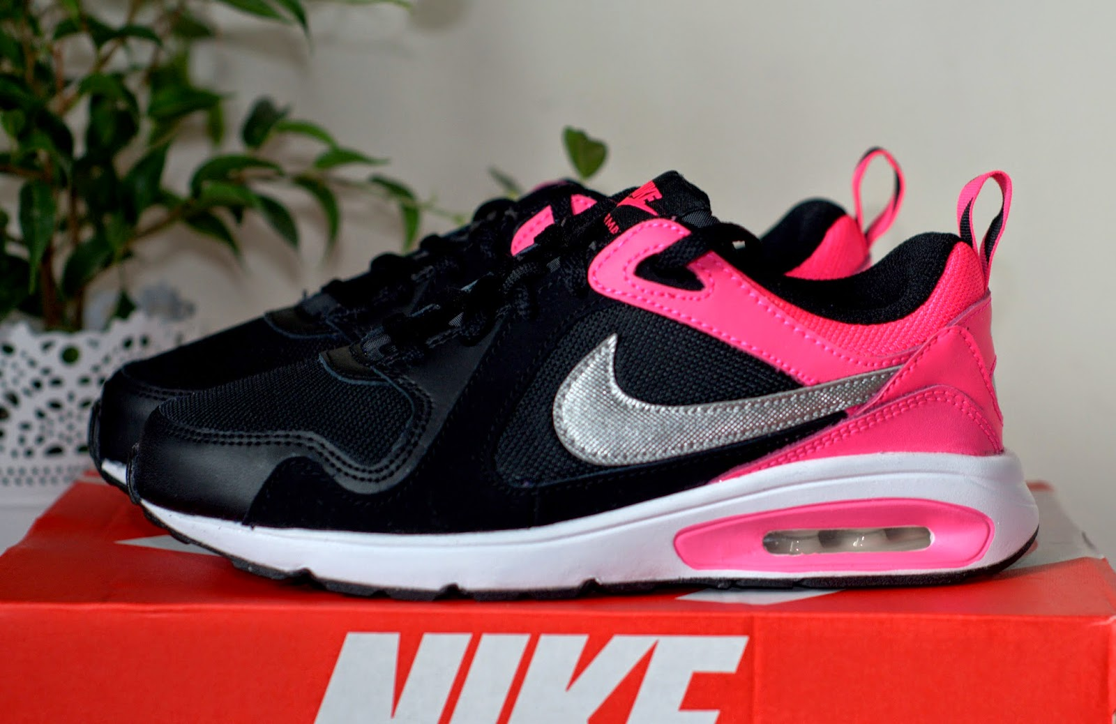 new style c617c 824be nike air max różowo czarne