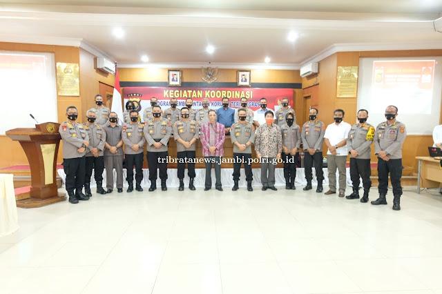 Polda Jambi Gelar Rapat Kordinasi Pemberantasan TP Korupsi Oleh KPK RI di Wilayah Provinsi Jambi