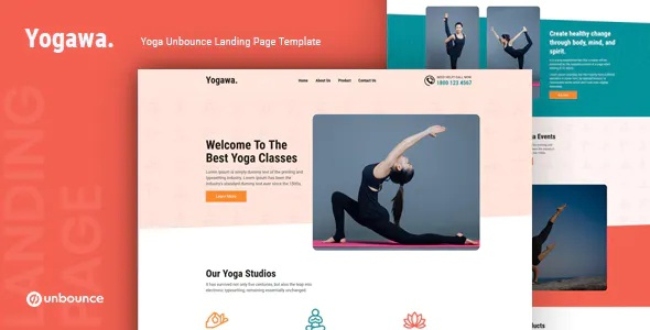Best Yoga Unbounce Landing Page Template