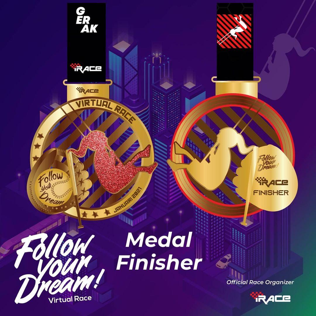Medali - Follow Your Dream Virtual Race • 2021