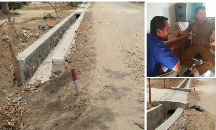 Proyek Drinase Bandar Kartarahayu Lamteng  Ditolak Warga, Dinas PUPR Ingkari Tanggungjawab
