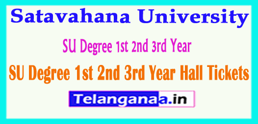 SU Satavahana University Degree 1st 2nd 3rd Year Hall Tickets 2018 Download