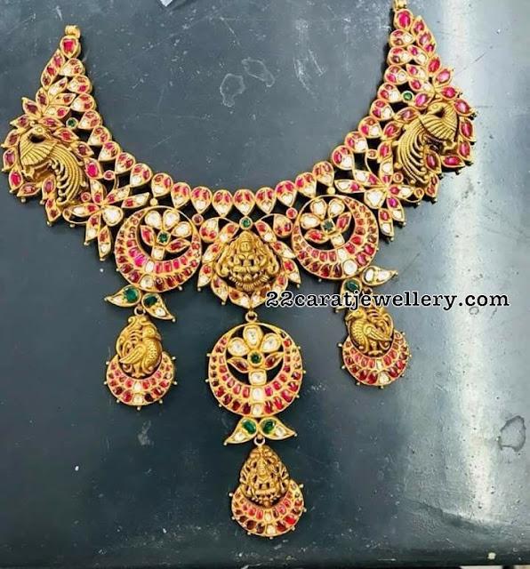 Lakshmi Peacock Latest Kundan Set