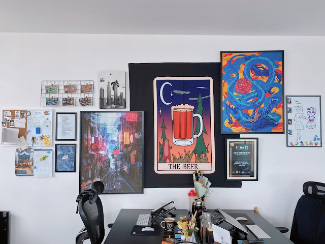 tapestry art frame wall feature