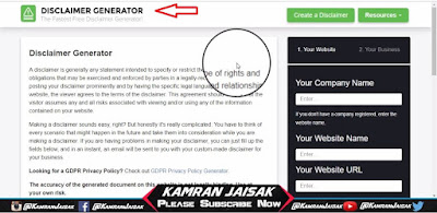 How to Create Disclaimer Page For Blogger Full Guide