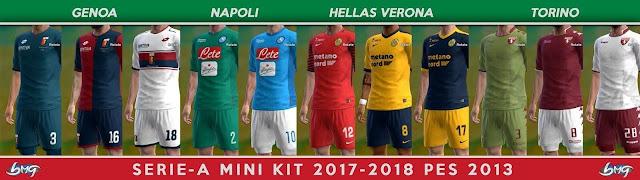Serie A TIM Kitpack 2017-18 PES 2013