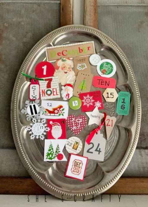 Make this Advent Calendar for Christmas with supplies you probably already have on hand