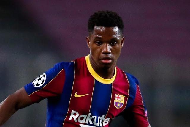 برشلونة يرفض عرض بقيمة 133 مليون إسترليني من مانشستر يونايتد لضم أنسو فاتي
