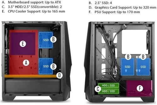 Review Antec NX Series NX310 Mid Tower ATX PC Case