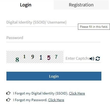 emitra registration login option