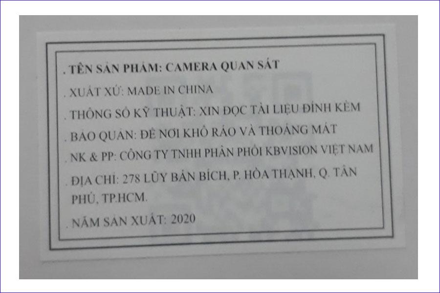 camera kbvision nhập khẩu chính hãng