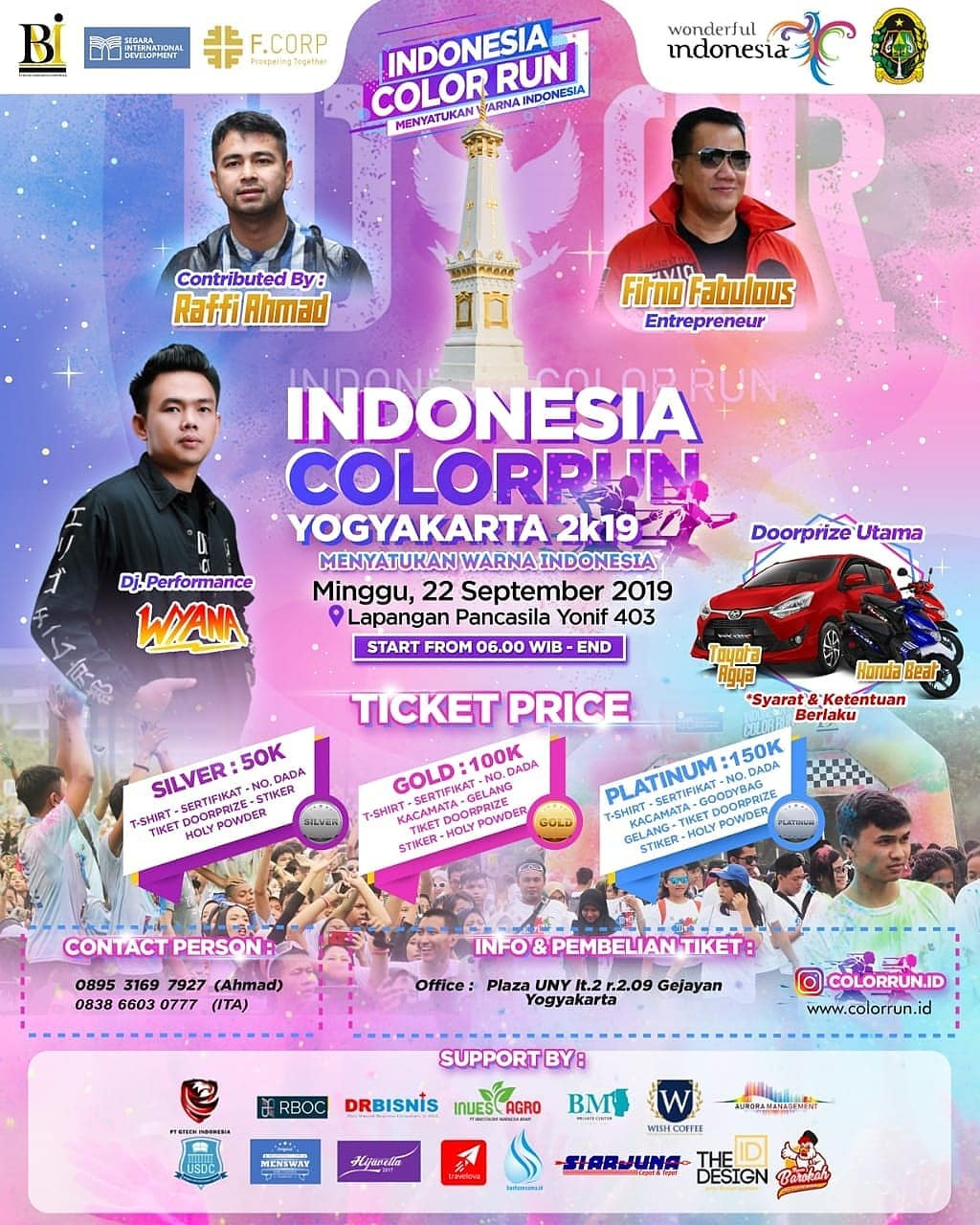 Indonesia Color Run - Yogyakarta • 2019