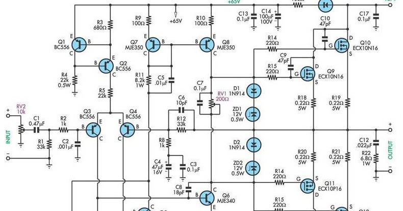 200w Mosfet Power Amplifier Wiring Diagram Remote Control