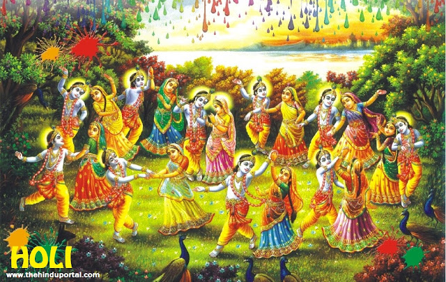 Radha - Krishna in Holi Celebrate