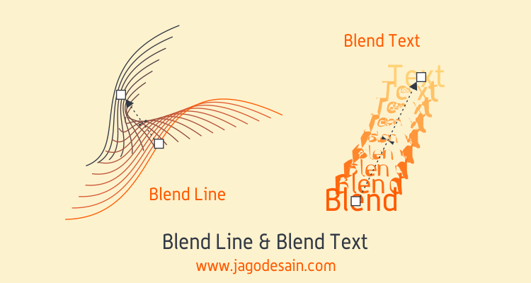 Mengenal Lebih Lanjut Blend Tool - Blend Line dan Text