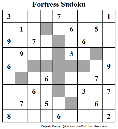 Fortress Sudoku (Daily Sudoku League #96)