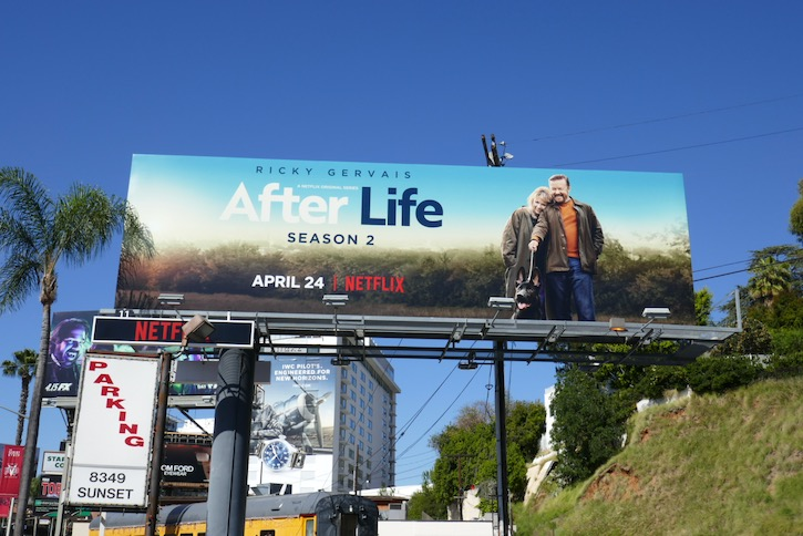 After Life season 2 Netflix billboard