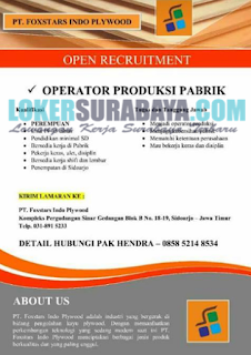 Recruitment at PT. Foxstars Indo Pywood Sidoarjo Terbaru Juni 2019